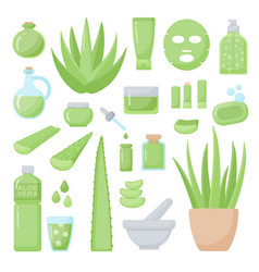 Spa and aromatherapy flat icons set vector