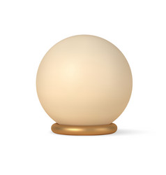 sphere on 3d gold ring stand template vector image