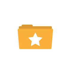 star folder icon design template isolated vector image