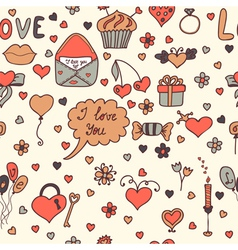 Stylish romantic seamless pattern in vector image