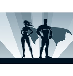 superhero couple vector image
