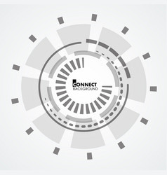 Technology circle design vector