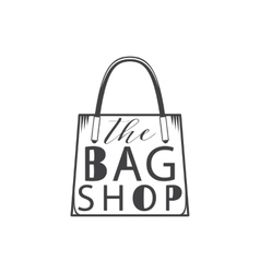 The bag shop Isolated on white background vector