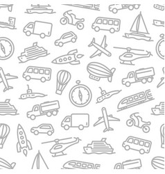 Transport seamless pattern for travel design vector