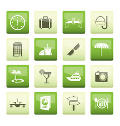 Travel trip and tourism icons vector