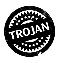 Trojan rubber stamp vector