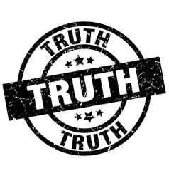 Truth round grunge black stamp vector