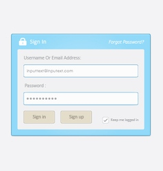User login 9 vector