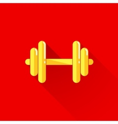 vintage of a dumbbell in flat style with long vector image