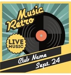 Vinyl icon Retro and Music design graphic vector image