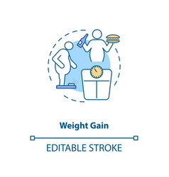Weight gain concept icon vector