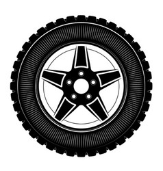 wheels and tires are black for a logo or emblem vector image