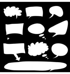 word bubble vector image vector image
