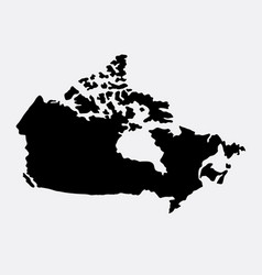 canada island map silhouette vector image vector image