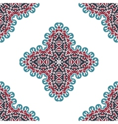Seamless abstract arabic art background Damask vector image