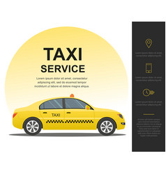 taxi service concept template vector image