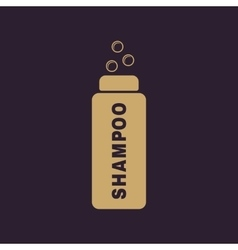 The shampoo icon washing symbol flat vector