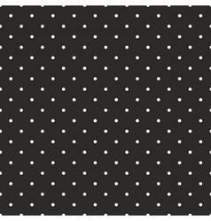 Tile pattern white polka dots on black background vector image vector image