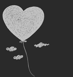 Balloon - heart vector image