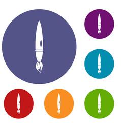 drawing brush icons set vector image