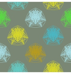 geometric pattern in spring colors vector image