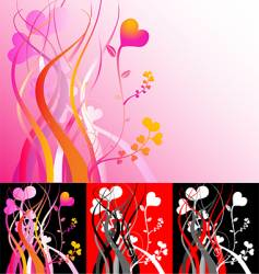 heart vines vector image