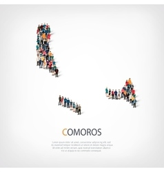 people map country Comoros vector image vector image
