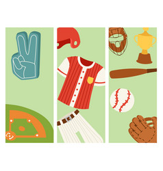 baseball sport competition game team banner vector image