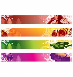 music web banners vector image