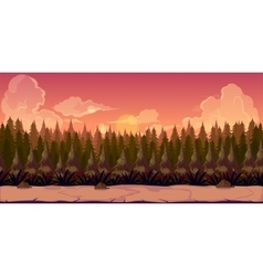 Mystery Forest 2d background vector image