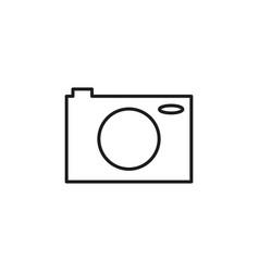 photo camera line icon vector image