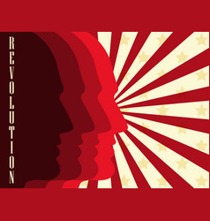 revolution poster background with rays vector image
