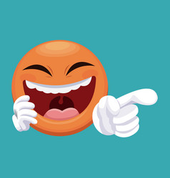 april fools day emoticon laugh vector image