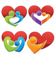 bright love vector image vector image