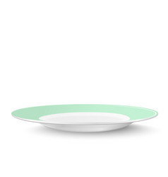 empty plate in light green design isolated on vector image