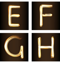 Fireshow font vector image