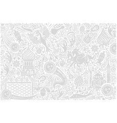 russia world cup white pattern vector image