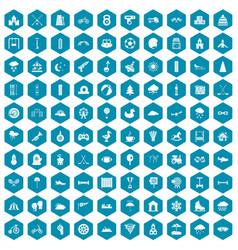 100 kids games icons sapphirine violet vector image