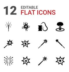 12 burst icons vector