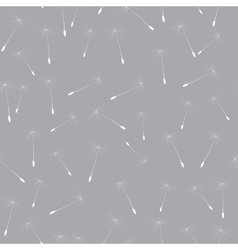 Abstract Dandelion Seed Seamless Pattern vector image