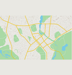 abstract flat map of city plan of town detailed vector image