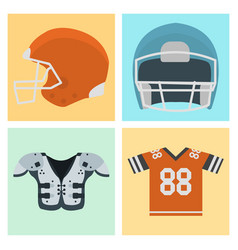 american football player uniform sport game icons vector image