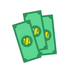 banknotes of green color vector image