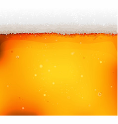 Beer texture background with froth and bubbles vector