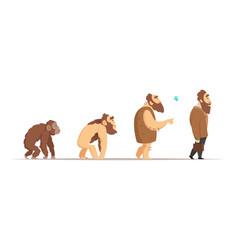 Biology evolution of homo sapiens vector