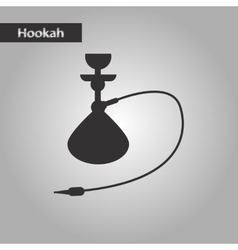 Black and white style icon eastern hookah vector