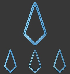 Blue line technology logo design set vector