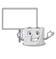 Bring board feta cheese character cartoon vector