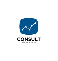 Business consulting logo template growth graph vector