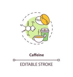 Caffeine concept icon vector